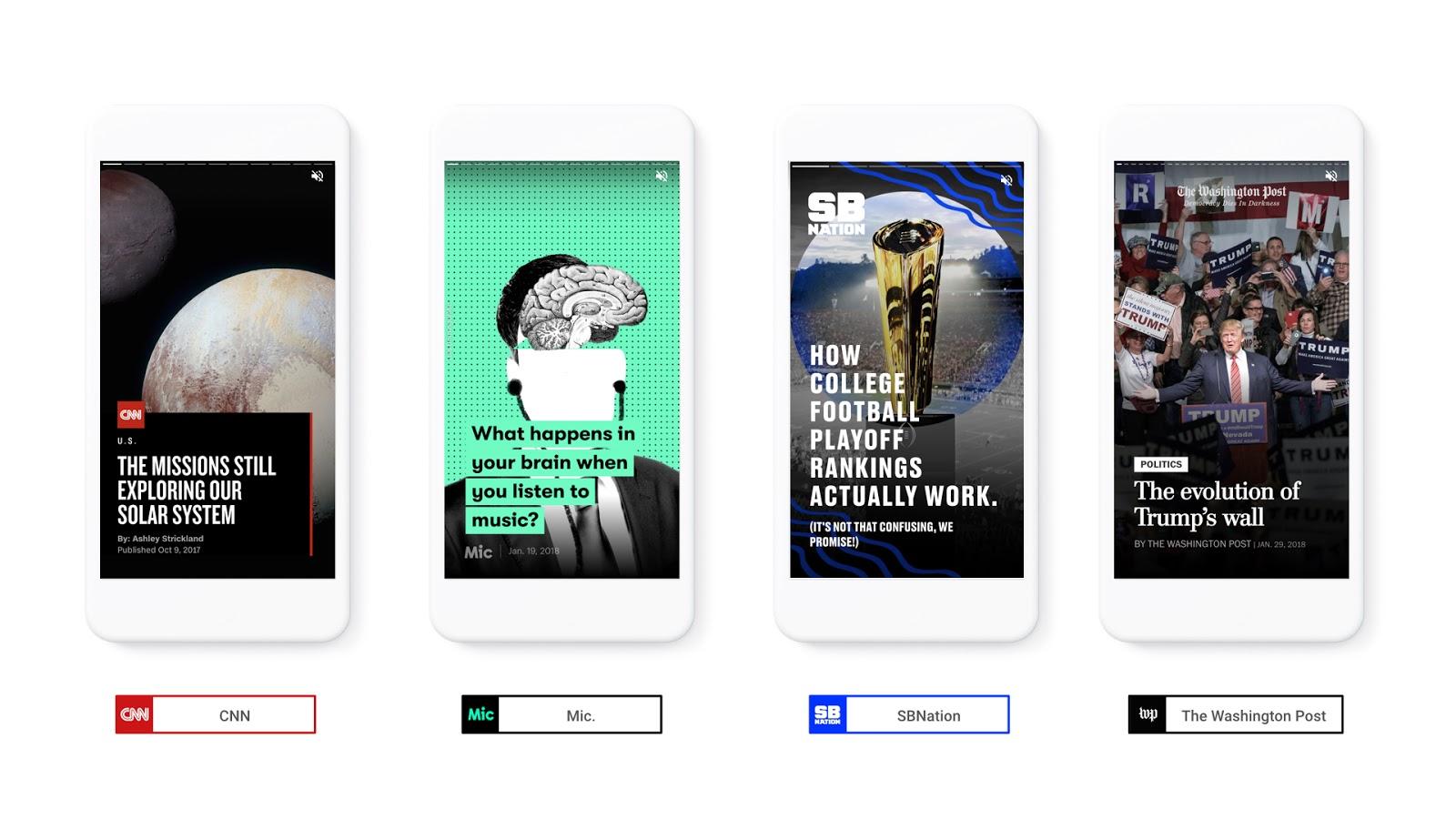 Google lance le format AMP Stories, une variante de l'AMP (Accelerated Mobile Pages)